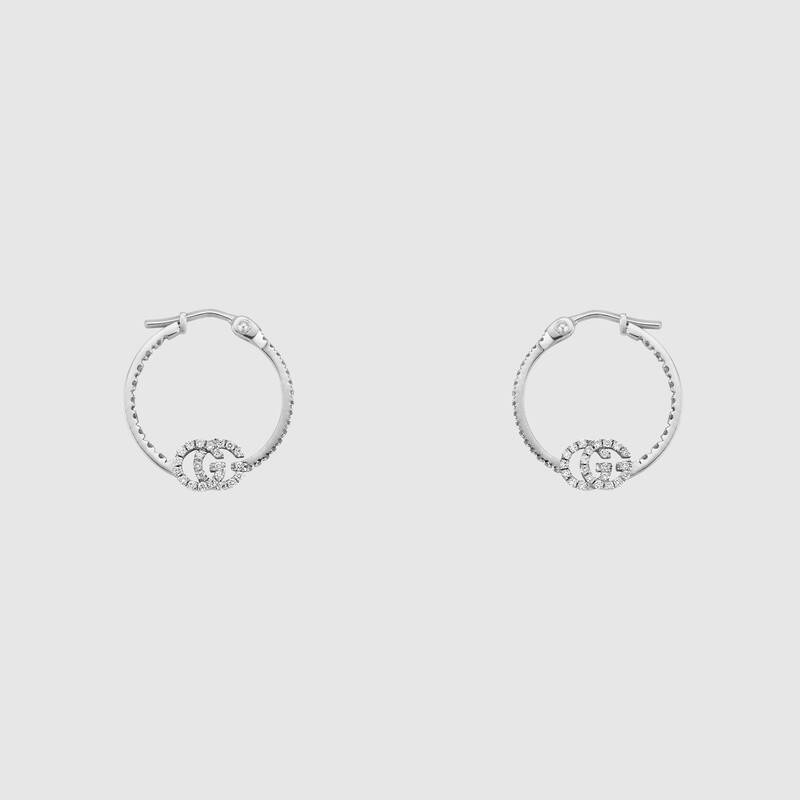 GG Running earrings with diamonds