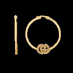 Orecchini Gucci GG Running in oro giallo