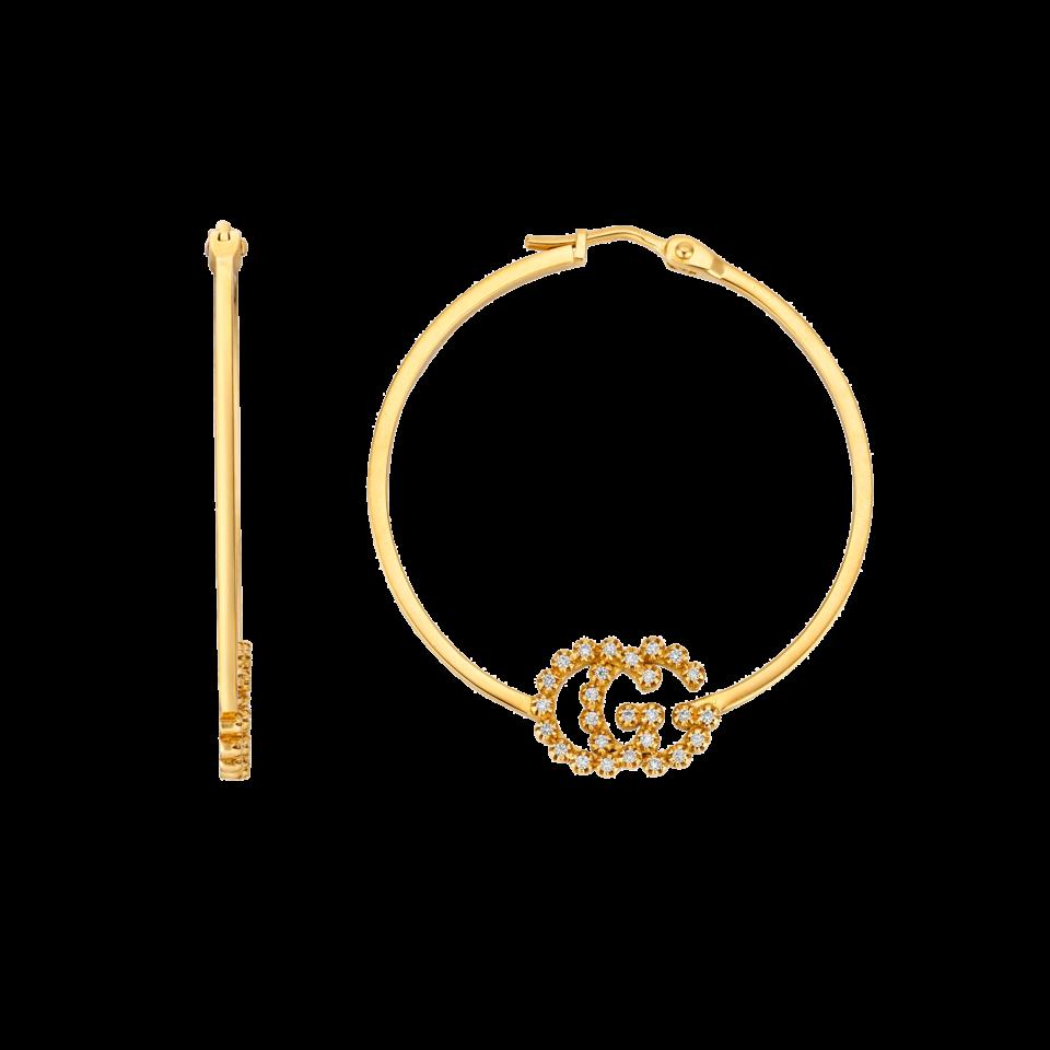 Orecchini Gucci GG Running con diamanti