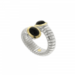 Anello tubogas 5 giri argento