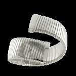 Bracciale Tubogas argento fascia larga