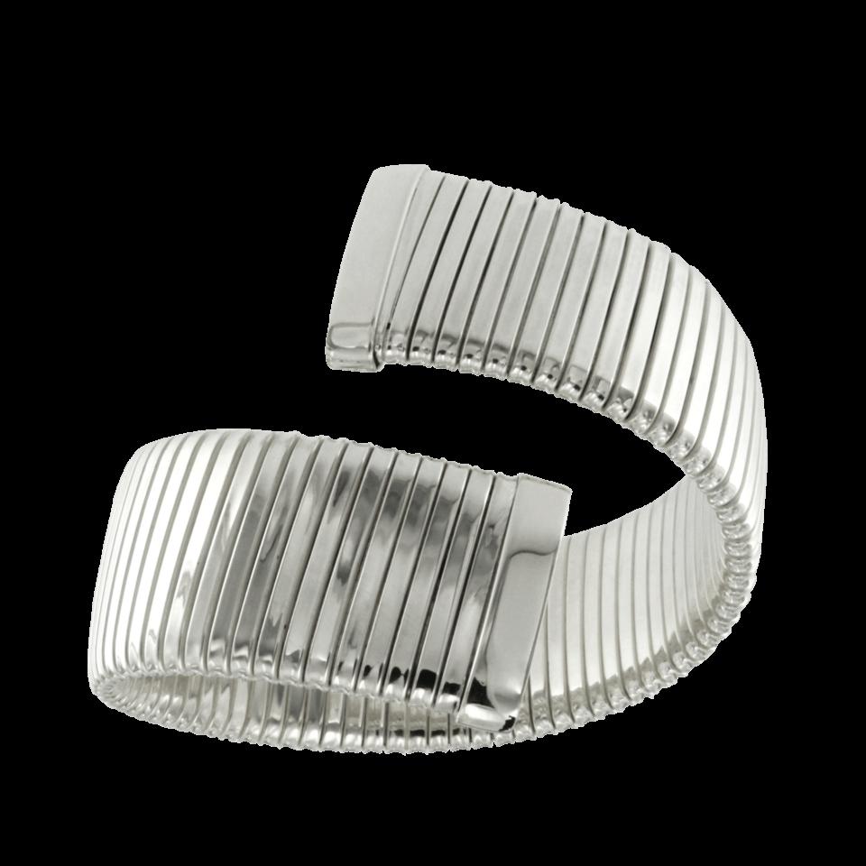 Bracciale tubogas largo piatto ad un giro contrariè