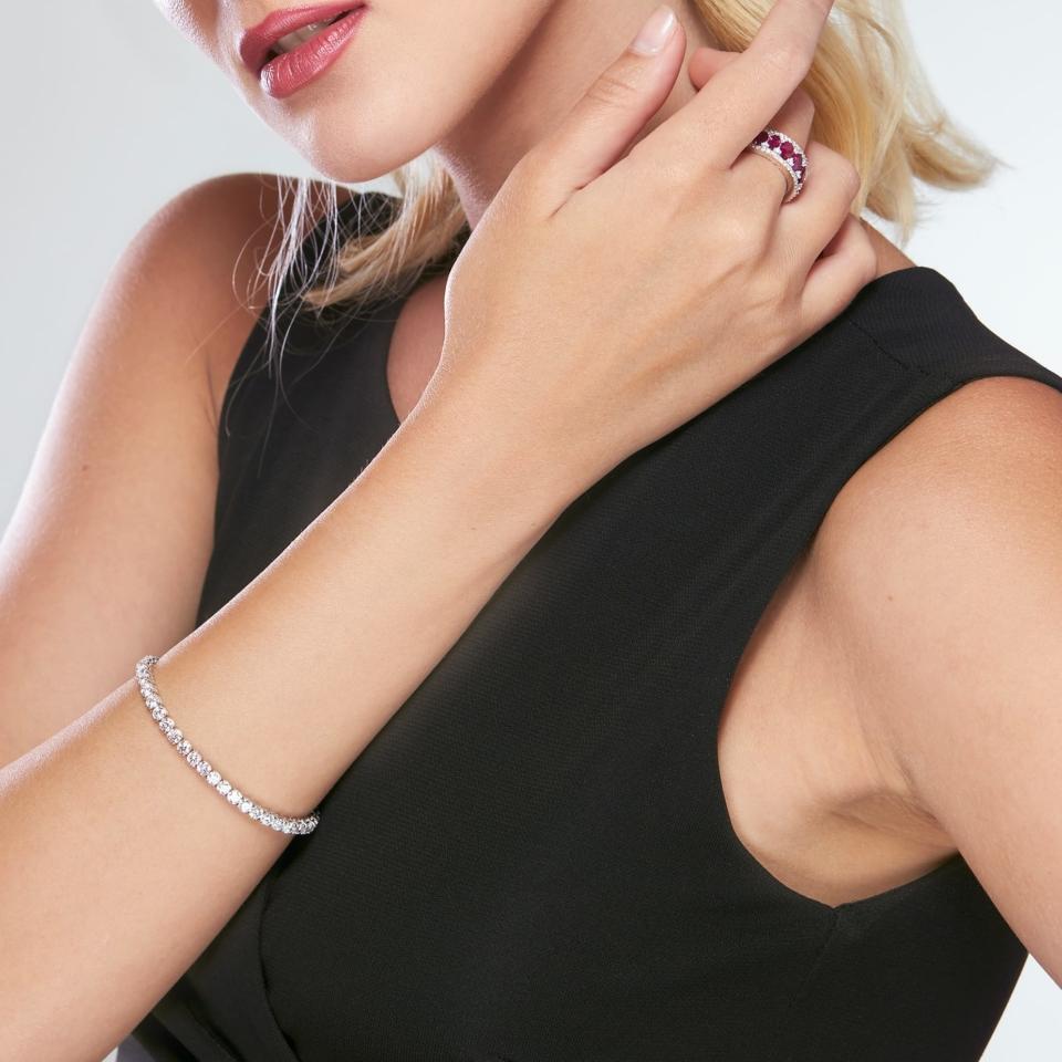 Anello Bon Ton oro bianco rubini brillanti