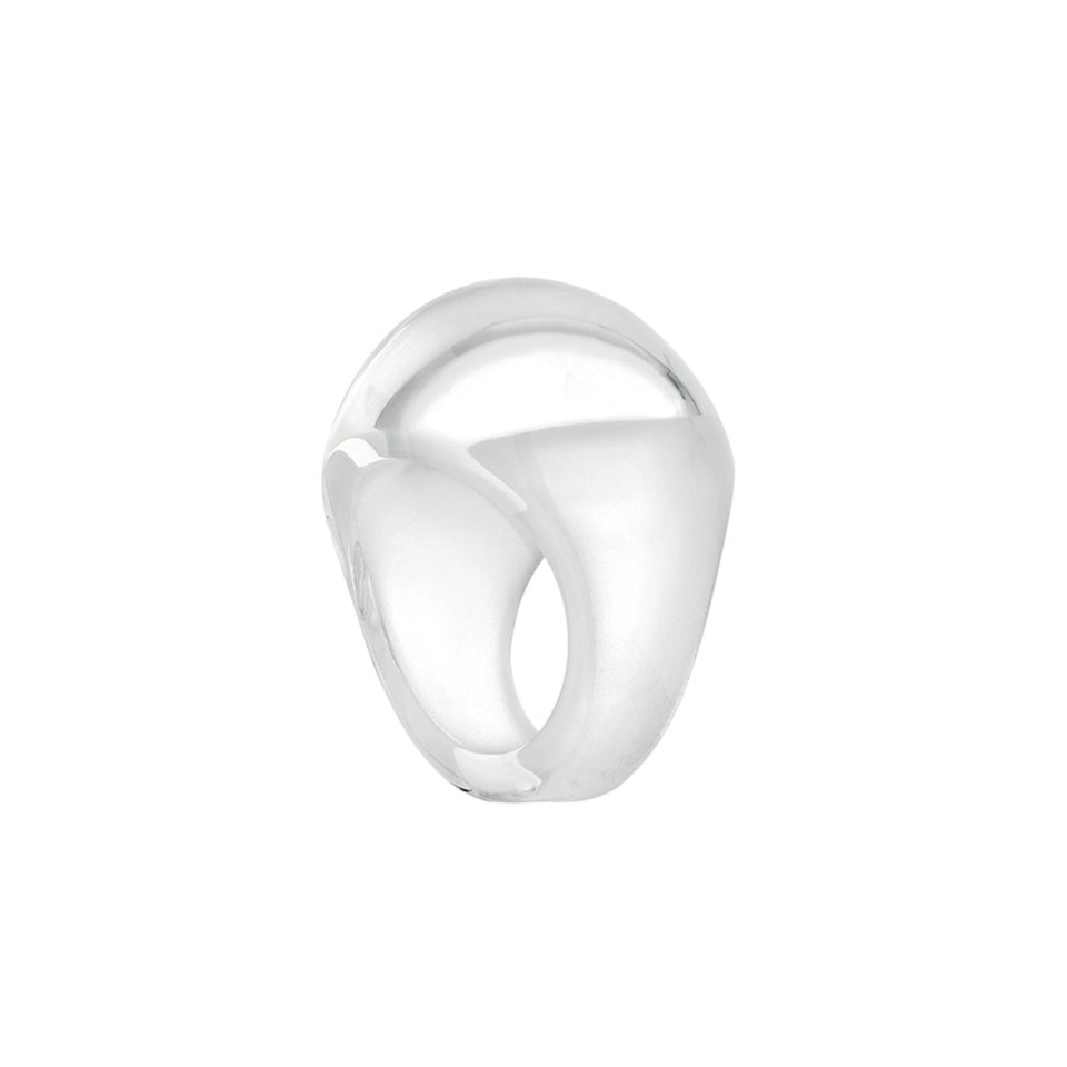 CABOCHON RING White Patina