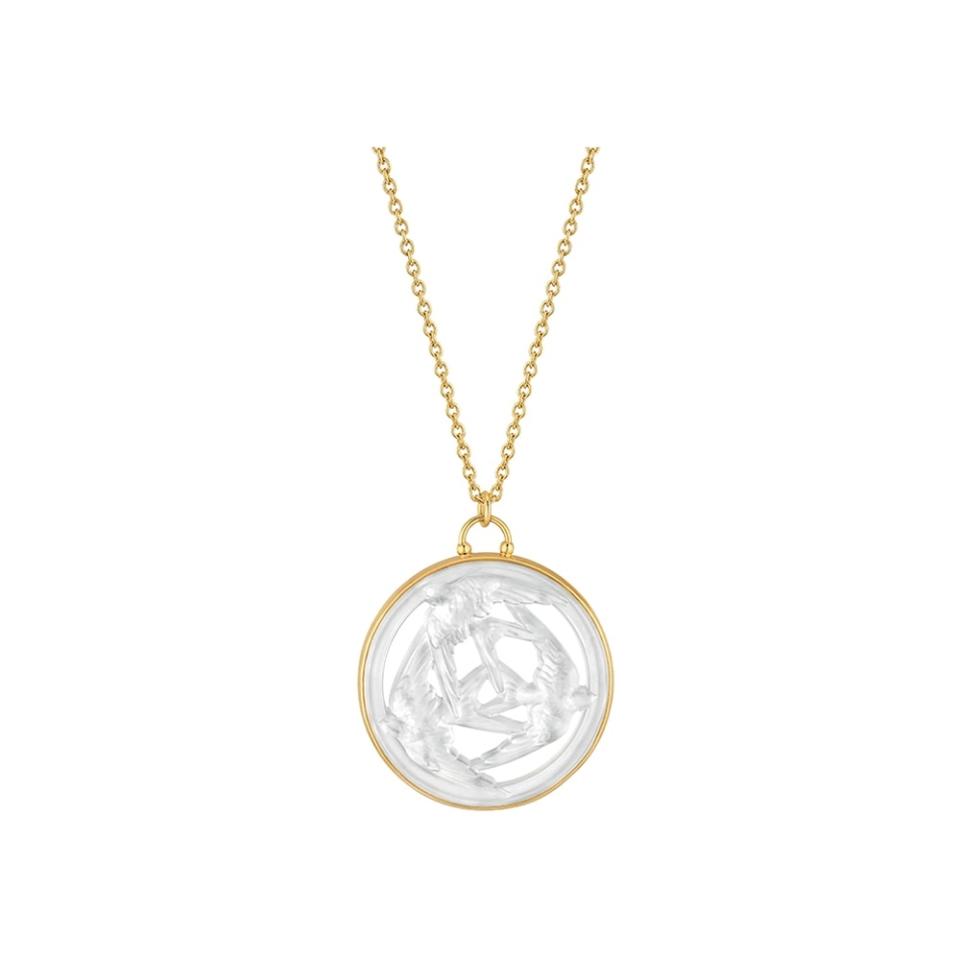 Trois Hirondelles Pendant Lalique