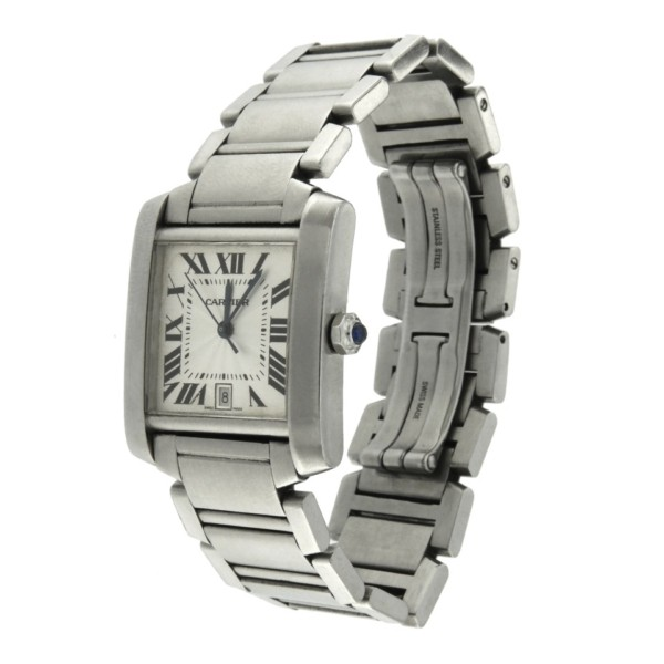 Vintage second wrist watch orologio-cartier-tank-francese
