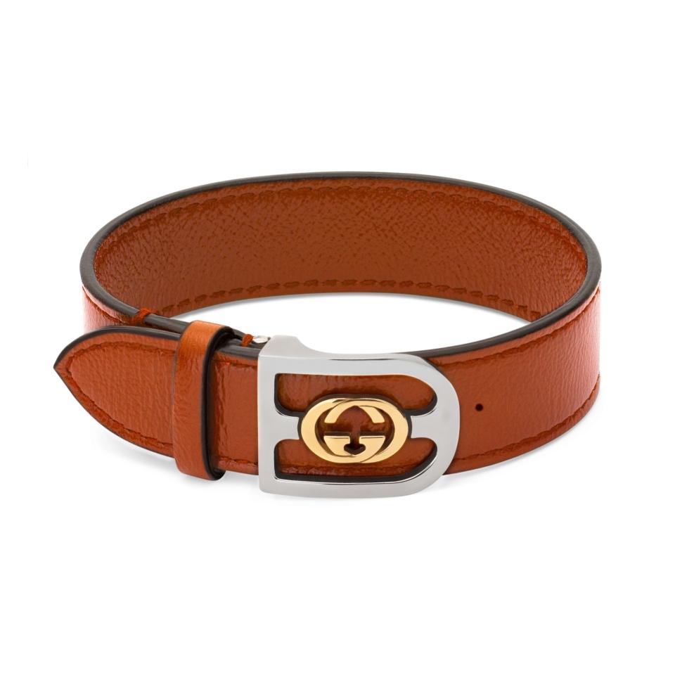 Bracelet gold Interlocking G buckle
