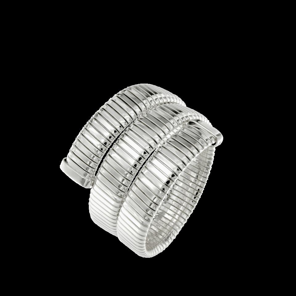 Bracciale tubogas argento 3 giri