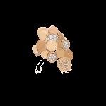 Orecchini Paillettes oro rosa diamanti