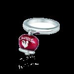 Campanella ring hearts padlock bouganville enamel