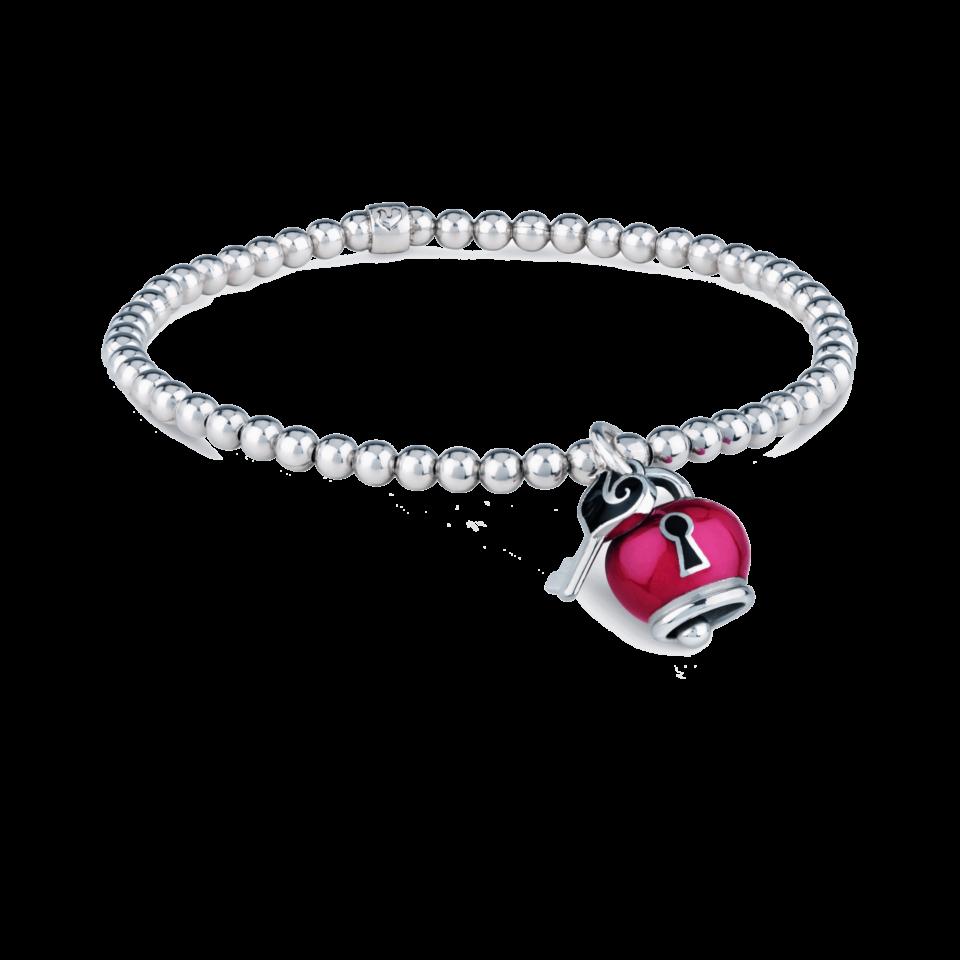 Bell bracelet hearts padlock