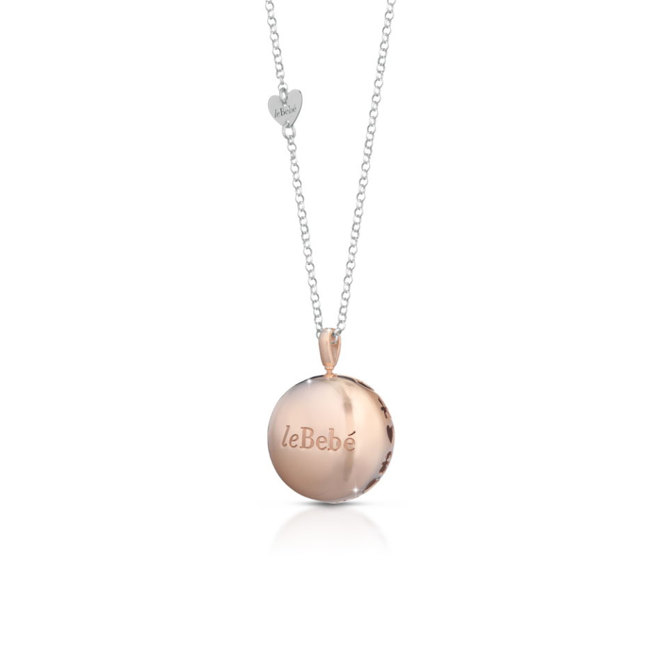 MOON ROSE GOLD PLATED SILVER PENDANT AND CHAIN