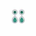 Bon ton ring white gold brilliant emeralds