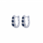 Bon Ton ring white gold diamonds emeralds