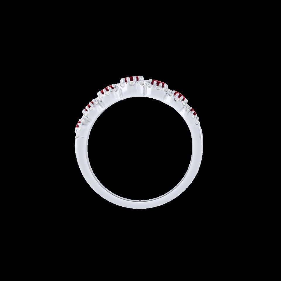 Bon Ton ring white gold rubies