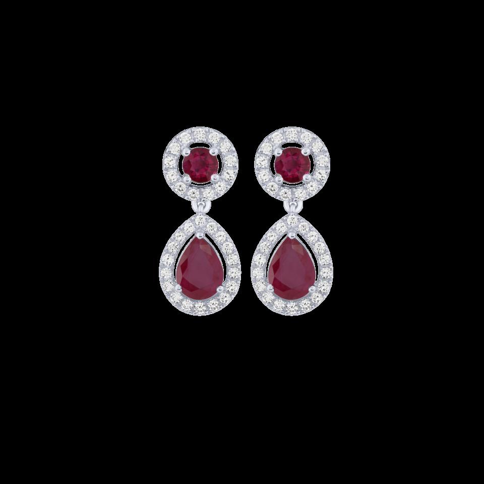 Orecchini rubini diamanti