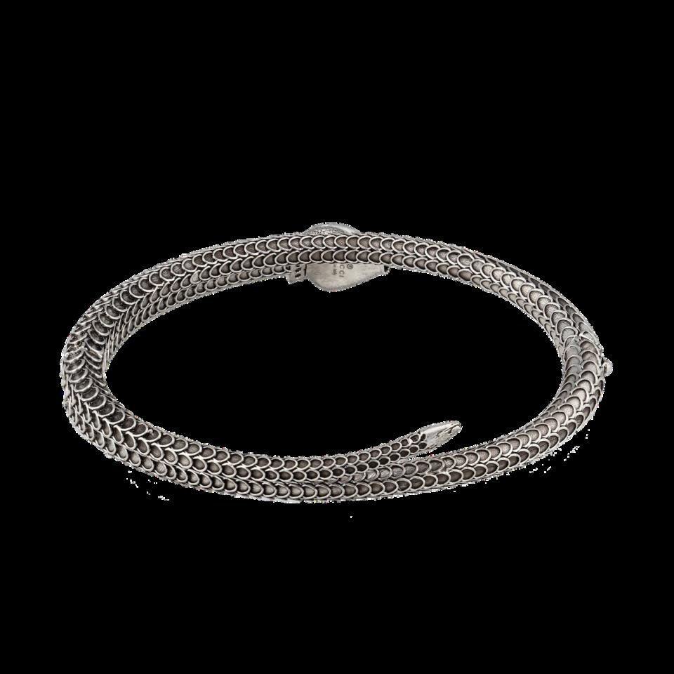 Gucci Garden silver snake bracelet
