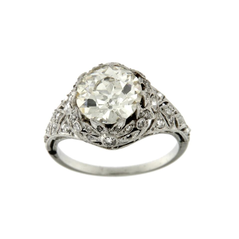 Anello diamante vecchio taglio