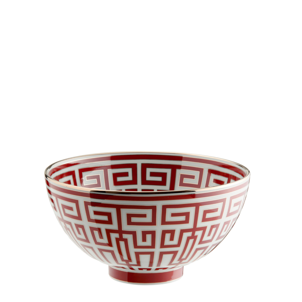 Red labirinth bowl Gio Ponti