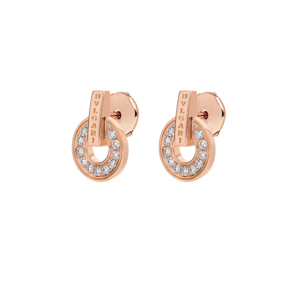 BVLGARI BVLGARI orecchini pavè diamanti