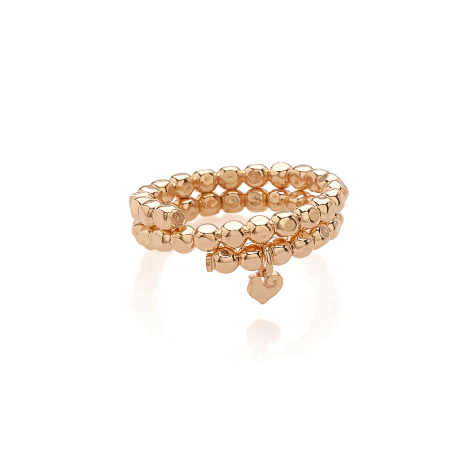 Anello Chantecler porta ciondoli micro galletto Oro rosa