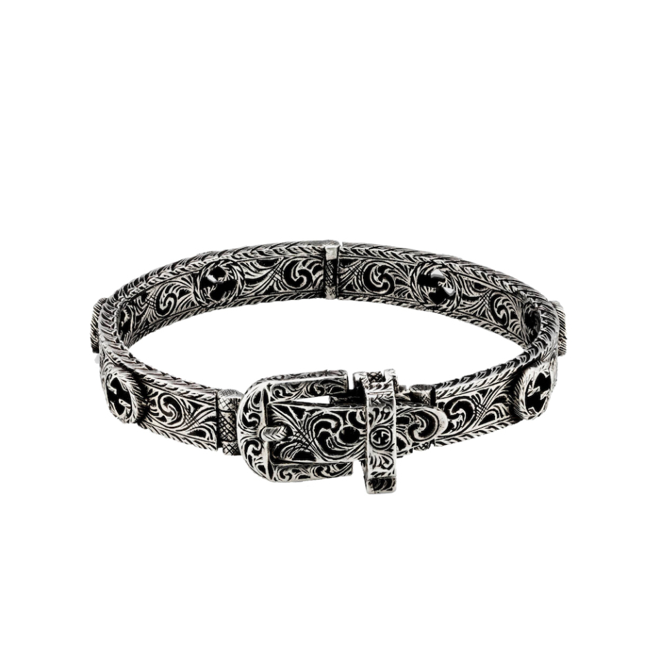 600137_J8400_0811_008_100_0000_Light Bracciale Gucci Garden in argento brunito