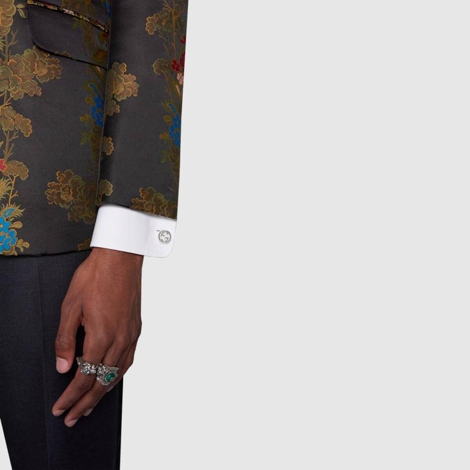 Gemelli Gucci argento doppia G cufflinks