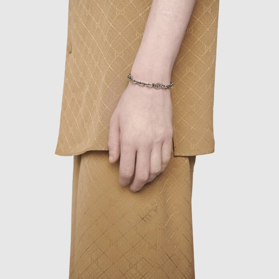 Bracciale Gucci in argento con GG