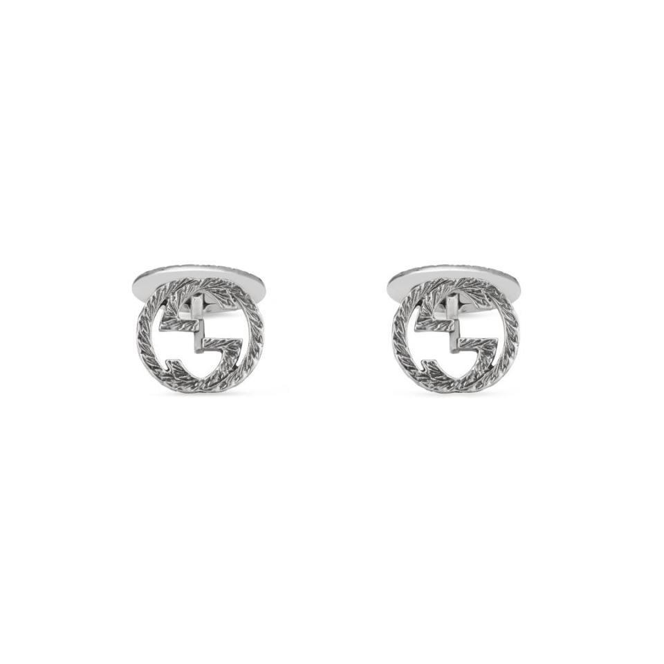 Gemelli Gucci argento doppia G