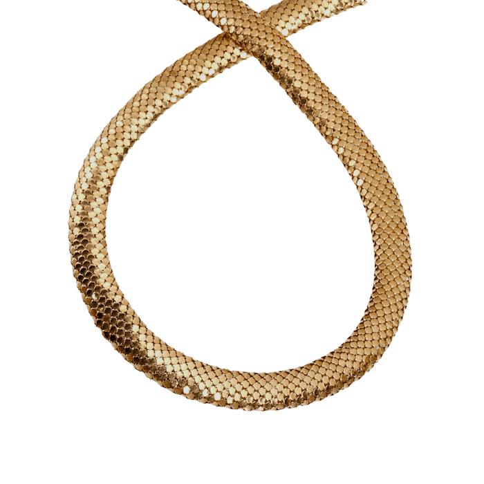 Collana girocollo Vintage scaglie serpente