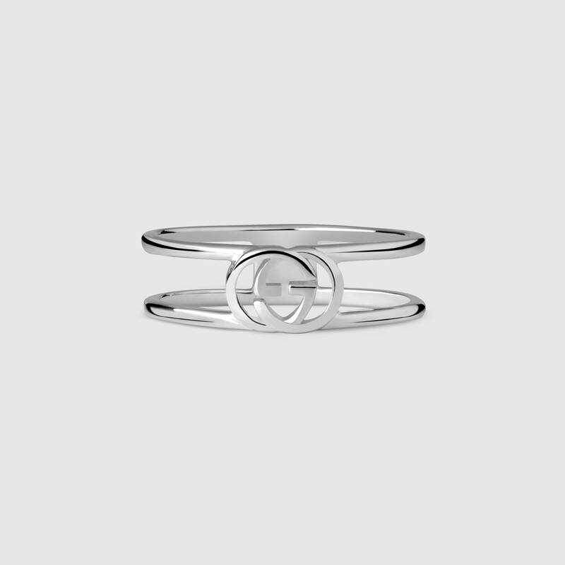 GUCCI Double G ring in silver tight