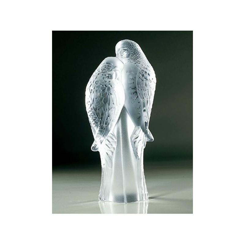 2 PARAKEETS SCULPTURE Lalique