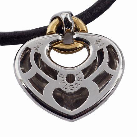 ciondolo doppio cuore bulgari vintage hart pendant