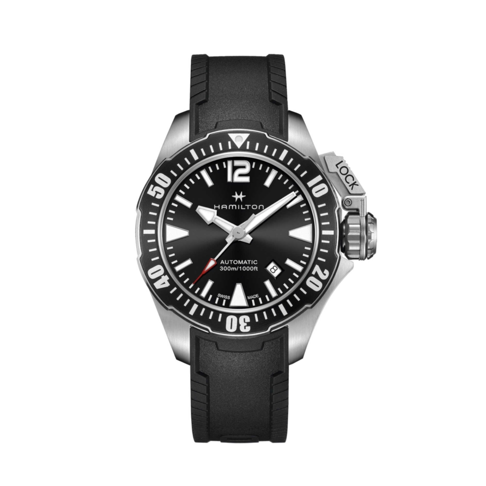 orologio hamilton Khaki Navy Frogman Auto H77605335