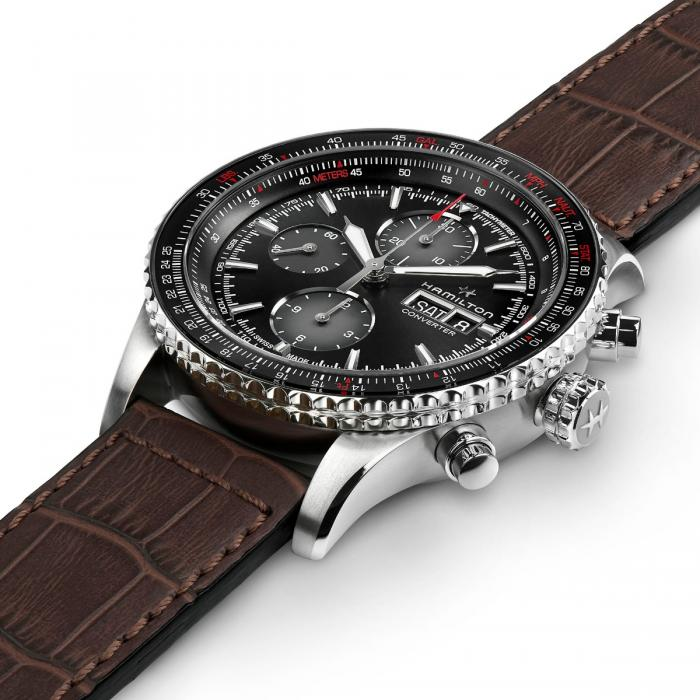 HAMILTON Watch Khaki Aviation Converter Auto Chrono Clock