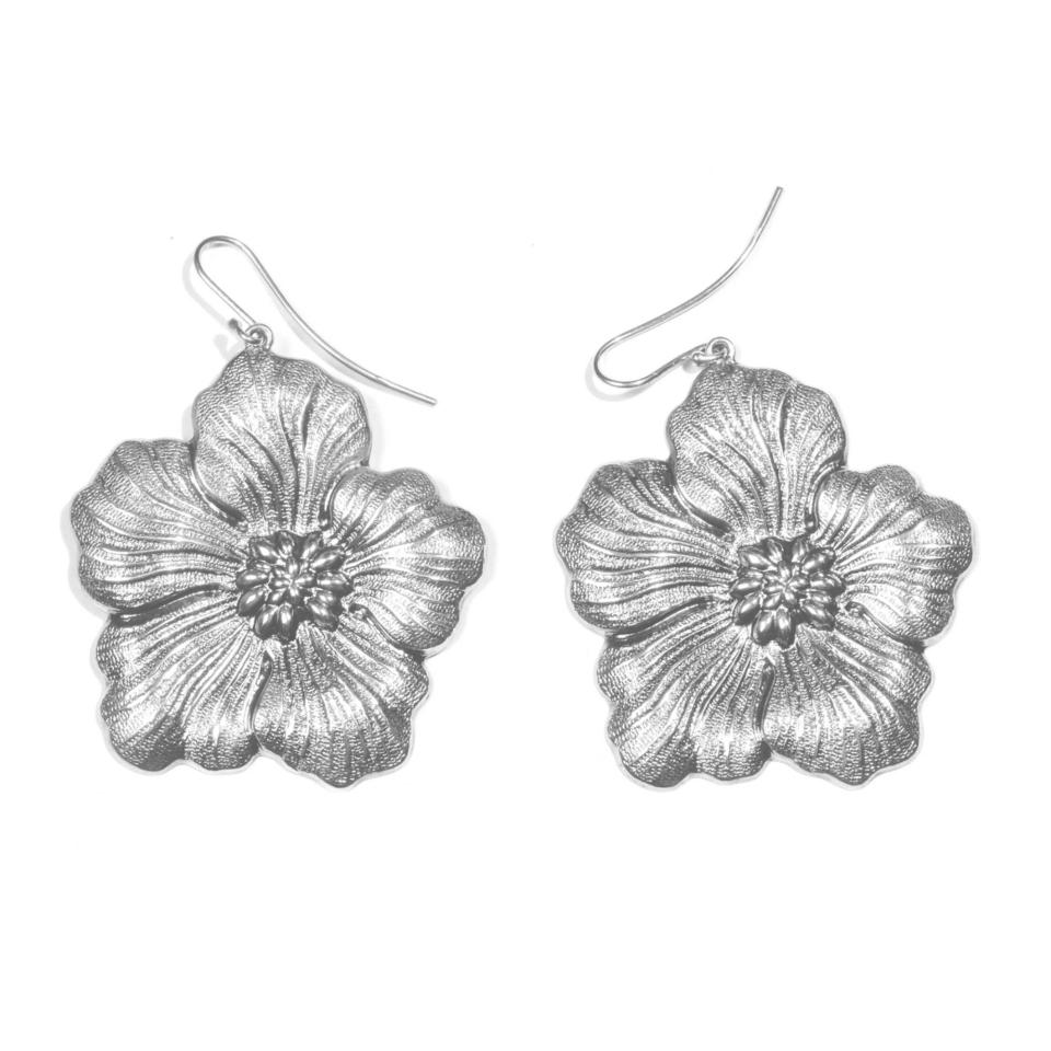 orecchini buccellati gardenia chiusura amo grandi earrings blossom silver