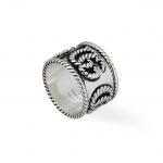 Anello Gucci Doppia G Argento ring silver discount sconto