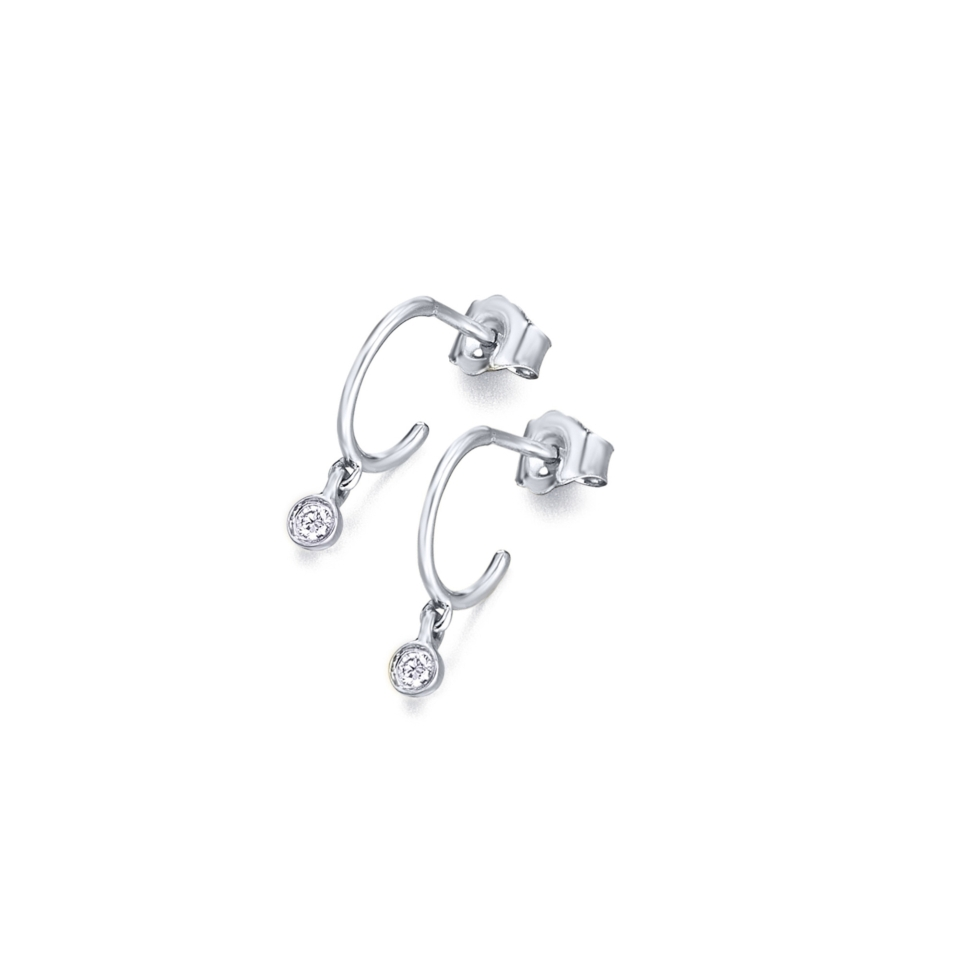 GB059OB orecchini oro bianco diamanti diamonds earrings discount sconto