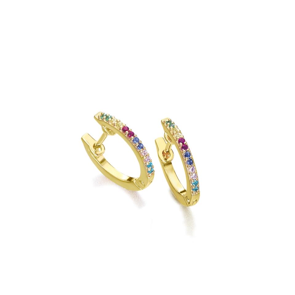 GB070OA orecchini oro arcobaleno topazi earrings sconto discount