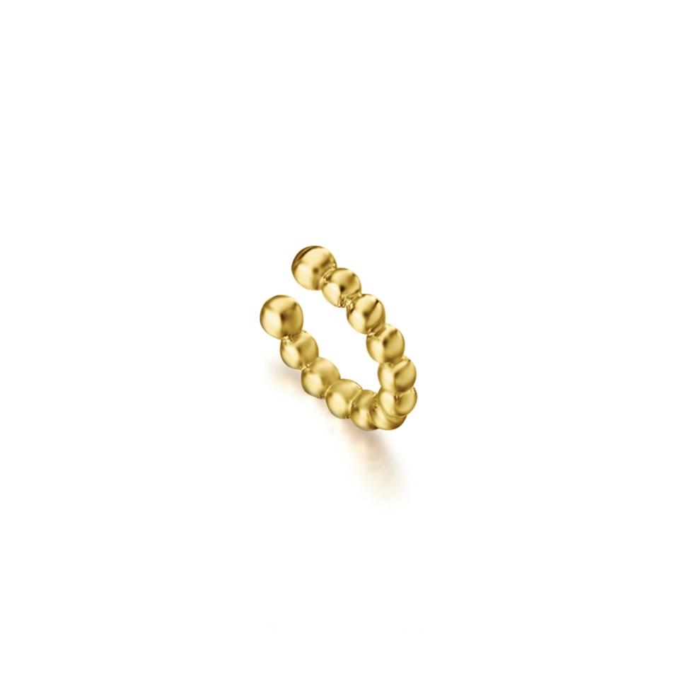GB108OA mono orechino helix a sfere oro giallo discount sconto helix earring gold