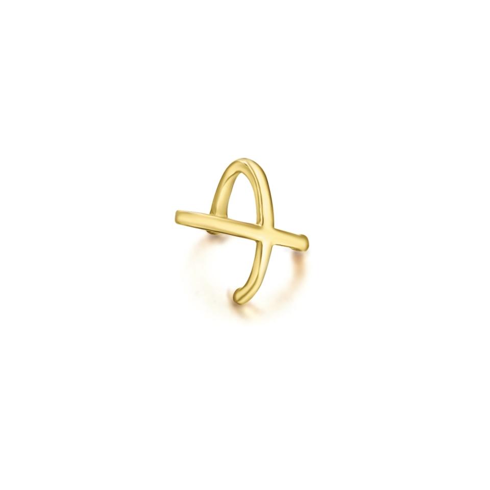 LE CARRÈ helix mono orecchino cross oro  gold discount sconto