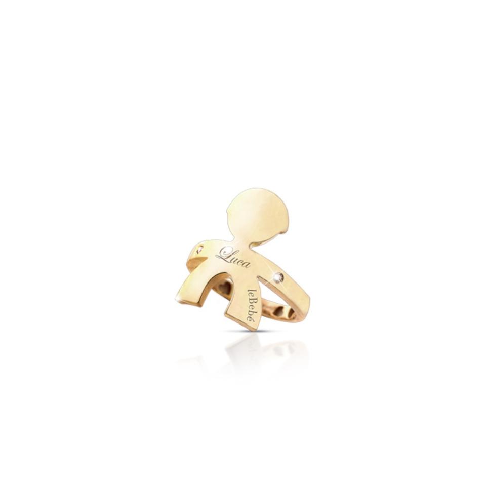 LBB-121-N anello le bebè abbracci maschietto ring