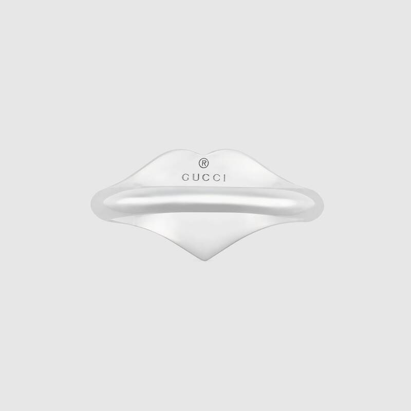 Gucci and GG heart enamel Ring