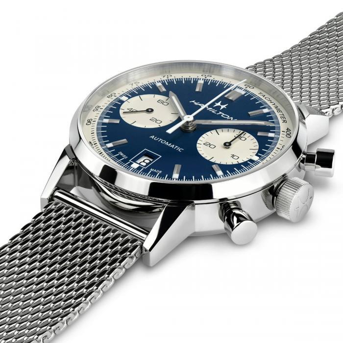 orologio hamilton american classic intra matic blu watch sconto discount a
