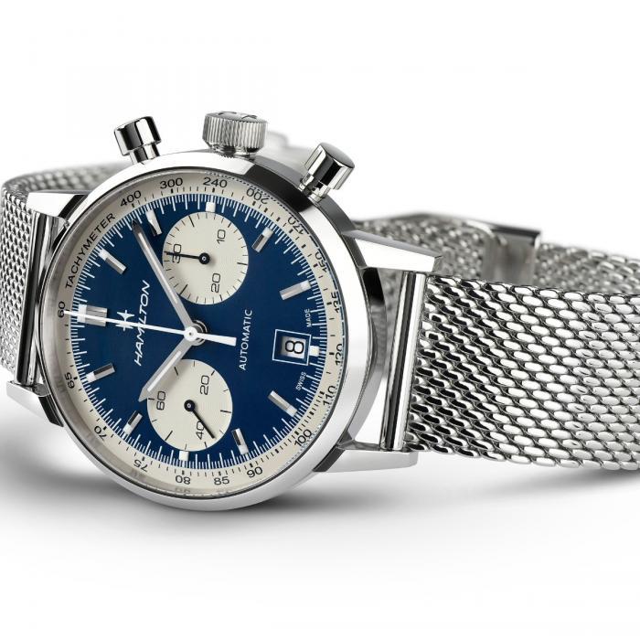 orologio hamilton american classic intra matic blu watch sconto discount b