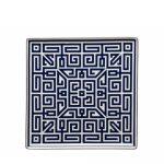 172RG01 FVS1210130XG00125200 PIATTO SVUOTATASCHE LABIRINTO ZAFFIRO square plate sconto discount