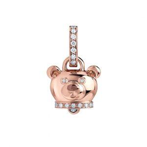 Ciondolo Campanella micro orsacchiotto pendant little bear diamonds sconto discount 41137