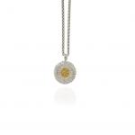 collana con pendente Daisy buccellati argento diamanto brown neclace sconto discount blossom diamonds