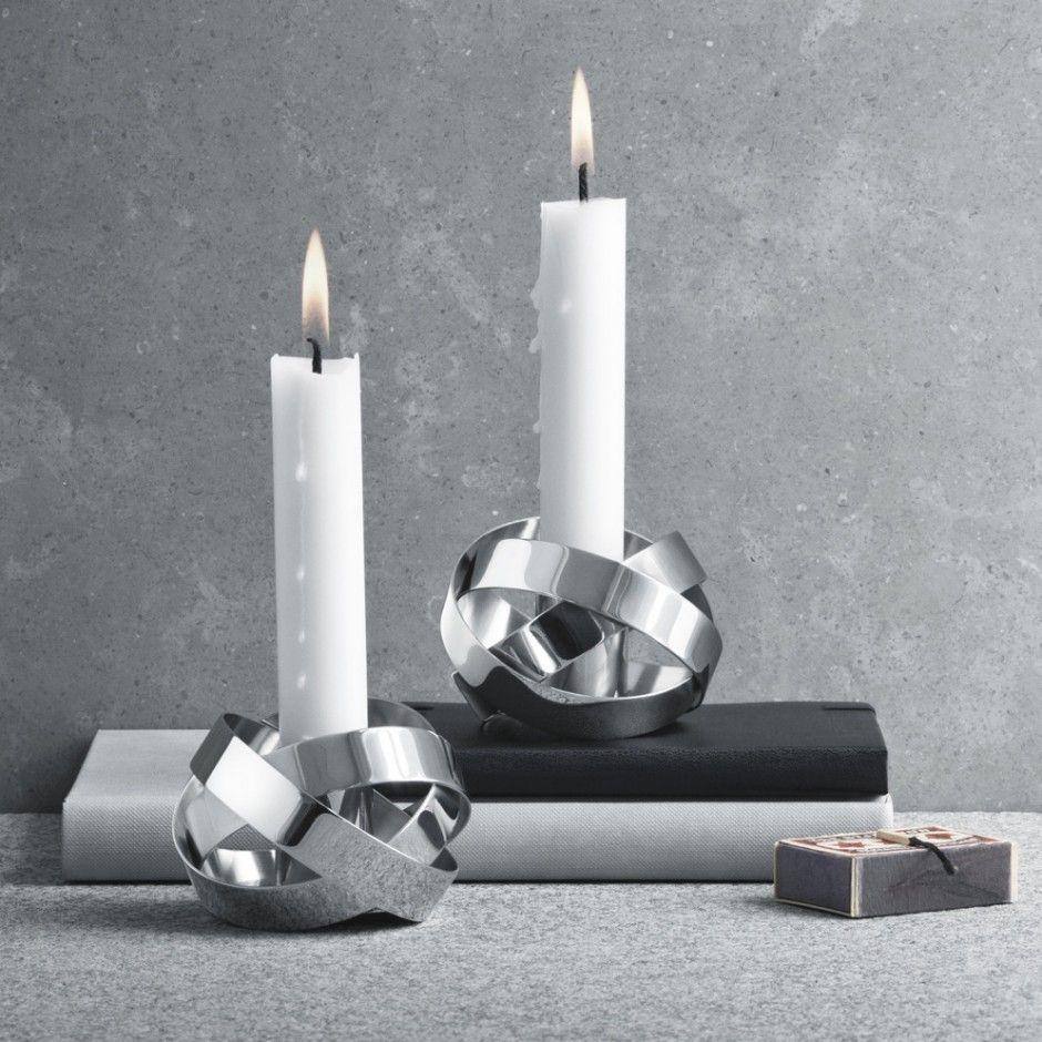 Georg Jensen Ribbons Candleholder 2pc